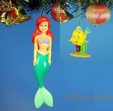 Disney Mermaid Ariel Flounder Decoration Xmas Tree Ornament Home Decor Set N106K