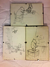 More details for vintage antique winnie the pooh postcard drawings 3x