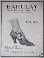 PUBLICITÉ 1923 BARCLAY BOTTIER SOULIER LÉZARD TALON ET GARNITURES VERNIS