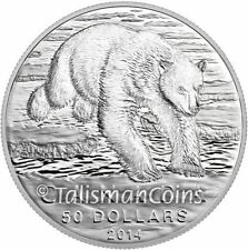 Canada 2014 Iconic Arctic Polar Bear Wildlife Conservation $50 Pure Silver Coin