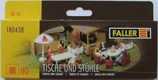 FALLER HO SCALE ~ GARDEN and PATIO FURNITURE ~ plastic model #180438