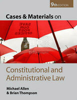 Cases and Materials on Constitutional and Administrative Law-ExLibrary
