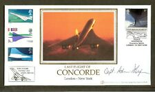 CONCORDE - 2003 Last Flight London to New York Cover. Signed Adrian Thompson