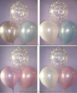 """15 Boys / Girls Christening Helium/Air 11"""" Balloons Party Decorations Butterfly"""