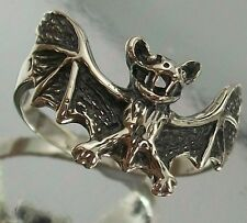 925 Sterling Silver flying Bat Design Ring US Size 6 3/4  AU N oxidised