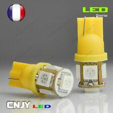 2 AMPOULE 5 LED SMD T10 CULOT W5W WY5W W3W W2.1x9.5d ORANGE AMBER XENON 360°12V