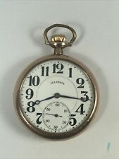 Illinois 16 Size 15j   Pocket Watch 20 Year Gold Filled Case