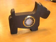 Vintage Scotty Scottie Scottish Terrier Black Dog Wooden Quartz Clock Working