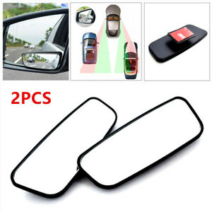2PCS 360° Side Auxiliary Blind Spot Wide View Mirror Small Rearview Car RV Truck