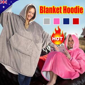 Plush Warm Blanket Hooded Ultra Comfy Giant Sweatshirt Huggle Fleece With Hoodie