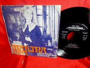 PINO CALVI Marina da Malombra 45rpm 7' + PS TV OST 1974 ITALY MINT-