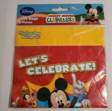 Disney Mickey Mouse Clubhouse Treat Loot Bags 8ct *Let's Celebrate* New
