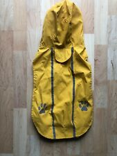 Top Paw Yellow Reflective Hooded Rain Jacket Coat Lightweight Size L