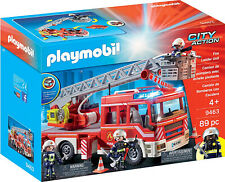 Playmobil City Action 9463 - Spielzeug-Feuerwehr-Leiterfahrzeug Feuerwehrauto
