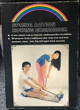 Vintage Spring Action Rower Exerciser Rowing / Pull Up Machine Original Box