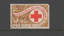 KENYA UGANDA TANGANYIKA (KUT) 1963 RED CROSS 50c RED & BROWN Used