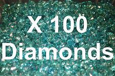 100 LEGO Frozen Traslucido Blu Diamante Gemme Gioielli CITY Pirata Castello con Bastone