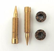 Holley Brass Mixture Screws & Cork Gaskets Set Of Two;  Model 2300, 4150 & 4160