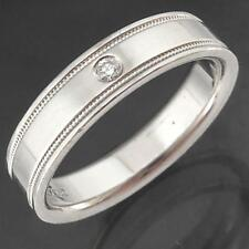 Original TIFFANY 950 PLATINUM DIAMOND WEDDING RING / BAND New = $2800 Small Sz J