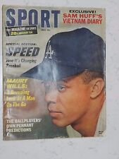 SPORT MAGAZINE MAY 1966 MAURY WILLS COVER MANY GREAT ARTICLES AND PICTURES