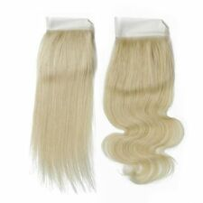 Brazilian Virgin Blonde Lace Closure 8Inch Blonde 613# 4X4 Bleach Knot,BodyWave