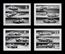 4 PRINTS POSTERS: NASCAR NHRA SCCA PLYMOUTH DODGE HEMI 426 392 354 331 413 WEDGE