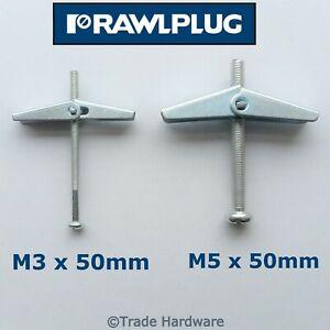 Spring Toggle Plasterboard Wall Plug Fixings Cavity Anchor Rawlplug