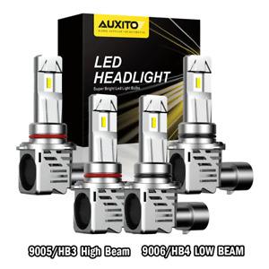 High/Low Beam 9006+9005 LED Headlight Bulbs for GMC Sierra 1500 2500HD 1999-2005