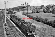 PHOTO  GWR 9441 AUTO-TRAIN COACHES APPROACHING STANDISH JUNCTION 1951