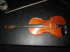 Beautiful Vintage Violin & Bow German Brazilian Wood French Commercial