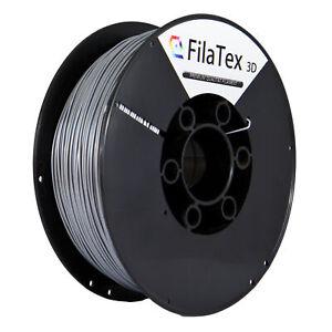 Premium PET PETG Filament Rolle Silber Silver 1,75mm 1KG für 3D Drucker