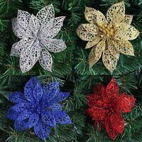 Decor Party Wedding Flowers Xmas Tree Decorations Glitter Hollow Christmas