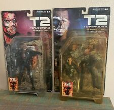 MCFARLANE TOYS Movie Maniacs Terminator 2 Set! T-800 & T-1000! New! U.S. Seller!