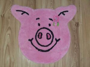 Bnwt M&S Percy Pig Face Pink Bath Mat / Rug - Quick Dispatch