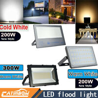 200W 300W LED FloodLight 110V outdoor Spotlight Cool/Warm White Garden Yard Lamp