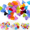 100pcs 14x10mm Mixed Color Frosted Flower Acrylic Beads Craft DIY Jewelry Making