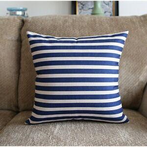 Hampton Style Blue Stripes Decoration Cushion Cover