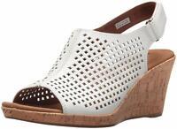 Rockport Womens Briah Perf Sling Peep Toe Casual Slingback, White, Size 7.0 Ej9S