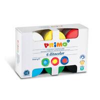 6 colori a dita morocolor MADE IN ITALY 6X50gr per asili nidi e scuole m
