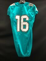 #16 MIAMI DOLPHINS GAME USED AQUA ON FIELD JERSEY SZ-38 2015 LINE CUT NO NAME