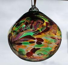 "10cm Hand Blown Glass Orb Bauble ""Multi Coloured"""