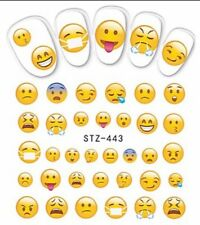EMOJI NAIL STICKERS Funny Faces Phone Art Decoration Expression nails STZ-443