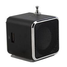 Portable Tf Usb Mini Stereo Speaker Music Player Fm Radio Pc Mp3 /4 Mc