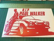 Paul Walker R.I.P Car Window Bumper Wall JDM VW Vinyl Decal Sticker RED MATT