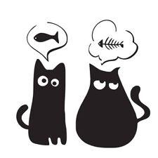 Cartoon Black Cats Wall Stickers Living Bedroom Removable Home Art Decor HZ