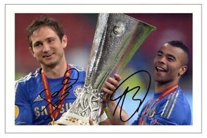ASHLEY COLE & FRANK LAMPARD Signed Autograph PHOTO Signature Gift Print CHELSEA