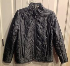 Carole Little Women's Gray Quilt Look Jacket with Stitching - Size Medium