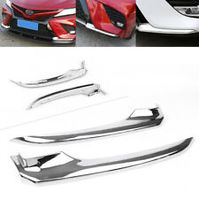 Sport Style Chrome Front Bumper Coner Trim Anti-collision for Toyota Camry 2018