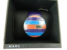 NEW Marc By Marc Jacobs Purple Multi-Color Striped Wrist Watch MBM2040