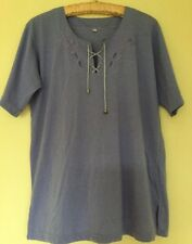 LILAC TUNIC TOP SIZE MEDIUM